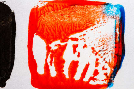 layer masks: Abstract hand painted blue and red acrylic art background Stock Photo