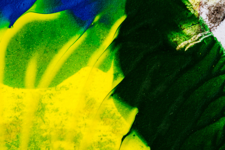 tempera: Abstract hand painted yellow and green acrylic art background