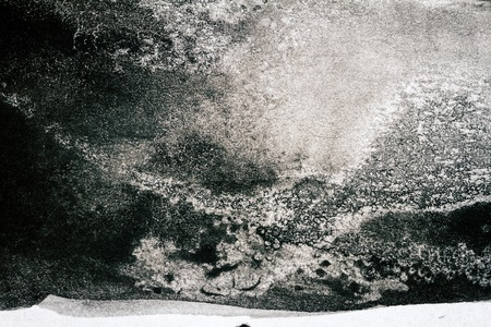 aquarelle: Abstract black hand painted watercolor texture. Abstract aquarelle background. Stock Photo