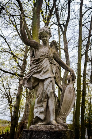 angel cemetery: Old statue of an angel at Vilnius cemetery