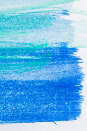 muted: Macro shot of abstract hand drawn blue and green watercolor paints background