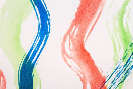 Macro shot of abstract watercolor art background. Multicolor light and bright texture. Fragment of artwork. Brushed watercolor paint. Modern contemporary art.