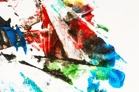 Abstract colorful hand painted acrylic background, creative abstract hand painted background, close up fragment of acrylic painting on paper