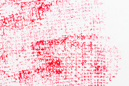 Red abstract spotted acrylic art background. Color texture. Fragment of artwork. Spots of paint.Modern art. Contemporary art.
