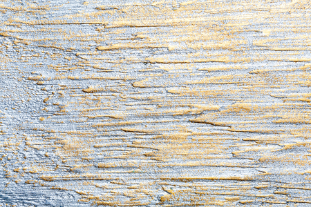 Silver and golden lined wall stucco texture background. Decorative wall paint.