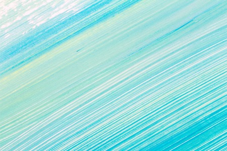 Abstract brushed cyan hand painted acrylic background, creative abstract hand painted background, close-up fragment of acrylic painting on paper with brush strokes Stok Fotoğraf - 117582821