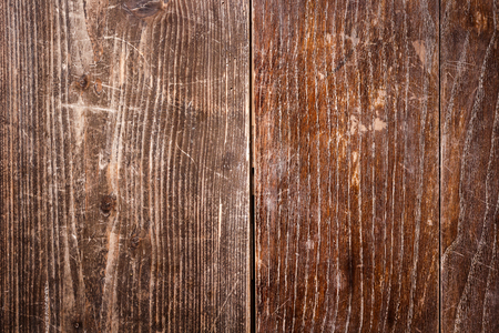 Old scratched oak table top texture background Imagens