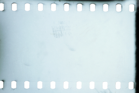 Blank grained film strip texture background Banque d'images