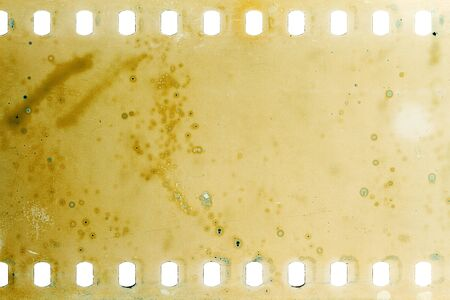 Blank grained moldy film strip texture background