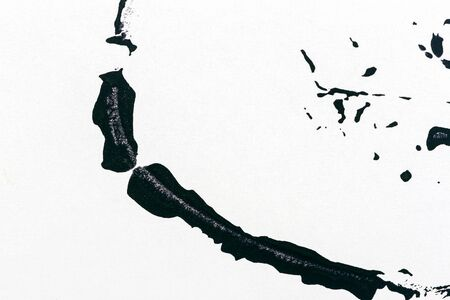 Black and white hand painted acrylic background. Grunge acrylic texture with painted dots and brush strokes. Stock fotó