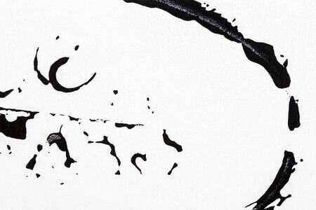 Black and white hand painted acrylic background. Grunge acrylic texture with painted dots and brush strokes. 版權商用圖片