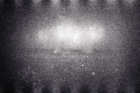 Fond de texture de bande de film à grain blanc avec grain épais et poussière Banque d'images