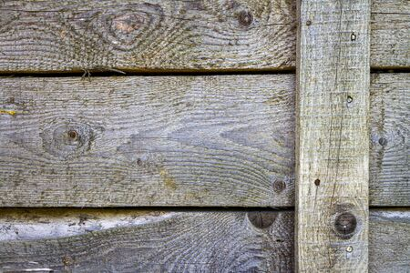 Old wood plank wall texture for background. Wooden wall with nails background