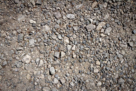 Gray little stones texture background. Abstract gavel background.