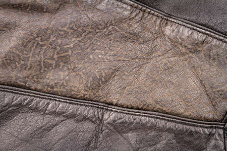 Genuine brown leather texture background. Abstract vintage natural cow skin backdrop.