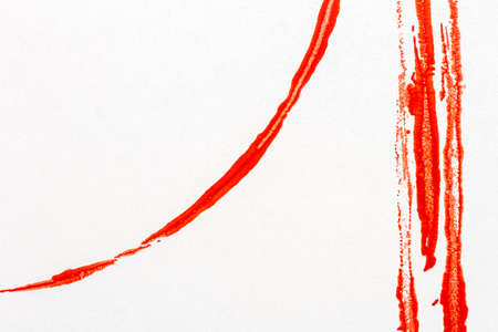 Red lined abstract acrylic art background. Stamped texture close up.