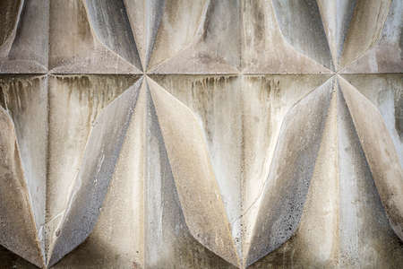Gray decorative concrete. Wall stucco texture. Geometric background
