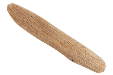 Piece of driftwood isolated on white background.