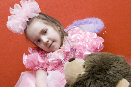 Girl And Her Teddy Bear Stock Photo - 4710452