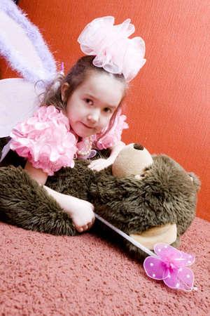 Girl And Her Teddy Bear Stock Photo - 4710320