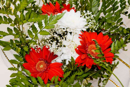 herbera: Herbera and chrysanthemum Bouquet