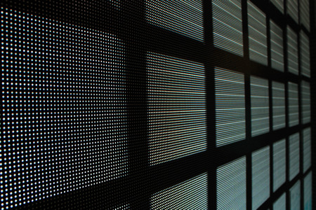 Led screen gray diodes - bricks background