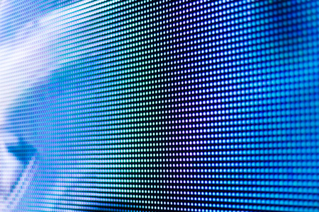 Bright blue led screen background