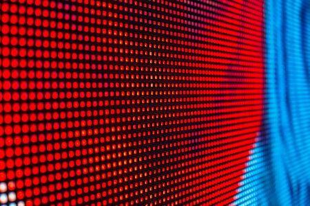 bright colors: Red and blue colored smd LED screen close up background