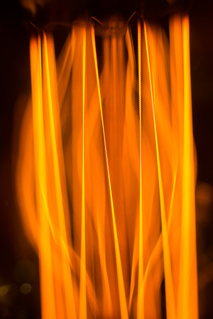 filament: Warm glow of the threads of filament cob lamp - macro background