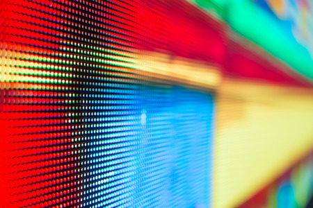 Bright colored LED smd screen - macro close up background Фото со стока - 45599688