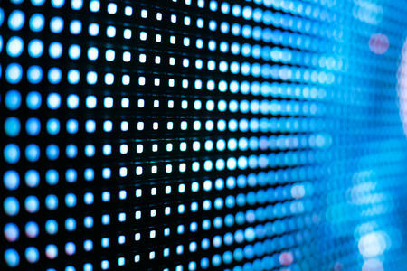 Jasny kolor niebieski ekran LED SMD z gwiazdami - bliska tle