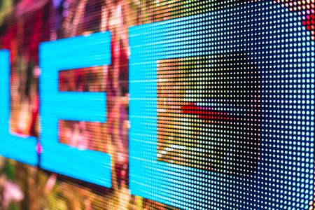 LED smd 画面に明るい色 LED サイン クローズ アップ背景