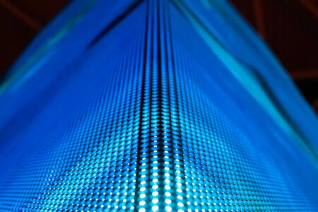 led display: Bright colored blue LED smd wall with corner - close up background