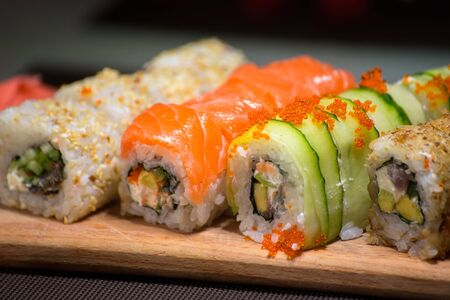 Sushi rolls - close up photo