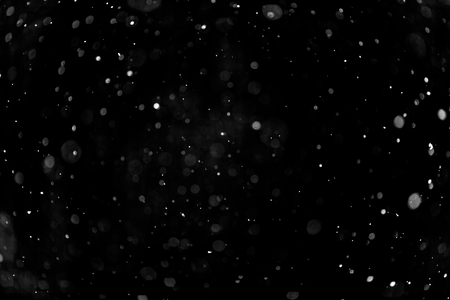 Snow hi-res texture for designers works - abstract photo texture of the real snow on the black background for adding and editing as background layer in the screen regime Stock fotó