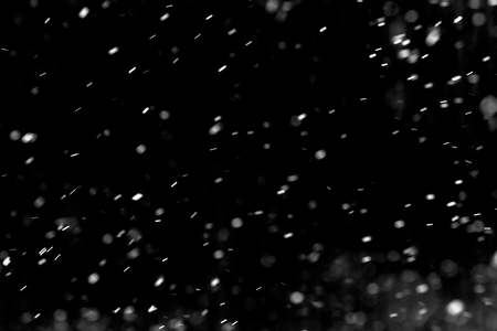 Snow hi-res texture for designers works - abstract photo texture of the real snow on the black background for adding and editing as background layer in the screen regime Stok Fotoğraf