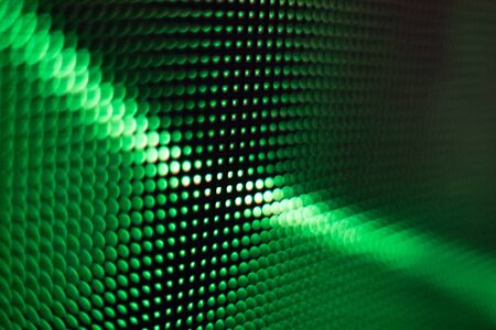 Bright colored LED video wall with high saturated pattern - close up background with shallow depth of field Фото со стока - 131598254