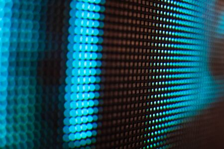 Bright colored LED video wall with high saturated pattern - close up background with shallow depth of field Фото со стока - 131597323