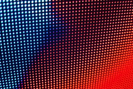 Bright colored LED video wall with high saturated pattern - close up background with shallow depth of field Фото со стока - 131635432