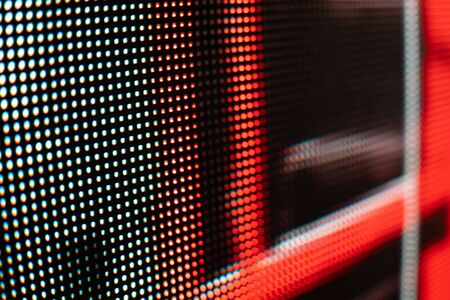 Bright colored LED video wall with high saturated pattern - close up background with shallow depth of field Фото со стока - 131606984