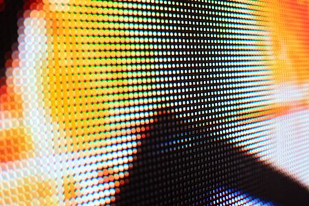Bright colored LED video wall with high saturated pattern - close up background with shallow depth of field Фото со стока - 131607588