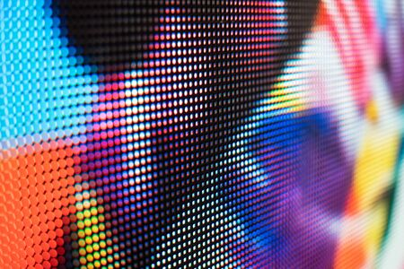 Bright colored LED video wall with high saturated pattern - close up background with shallow depth of field Фото со стока - 131607188