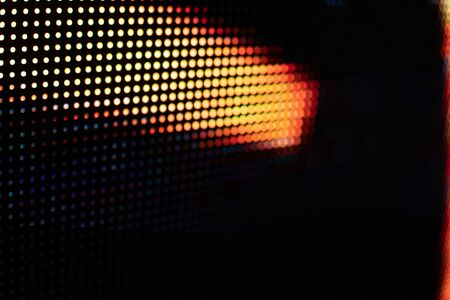 Bright colored LED video wall with high saturated pattern - close up background with shallow depth of field Фото со стока - 131635435