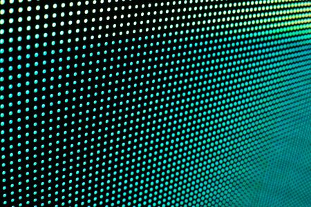 Bright colored LED video wall with high saturated pattern - close up background with shallow depth of field Фото со стока - 131635441