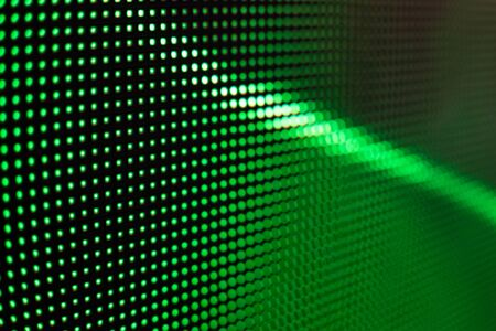 Bright colored LED video wall with high saturated pattern - close up background with shallow depth of field Фото со стока - 131607105