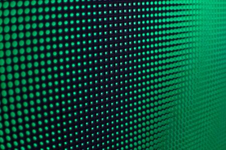 Bright colored LED video wall with high saturated pattern - close up background with shallow depth of field Фото со стока - 131635467
