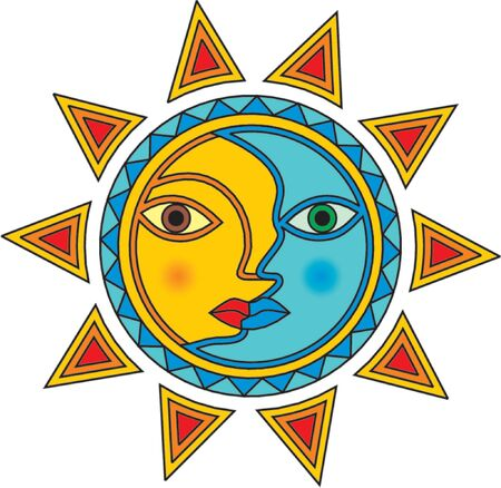 legends folklore: Stylized sun