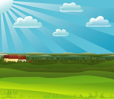 Countryside background Stock Vector - 1781378