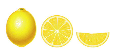 Limones aisladas