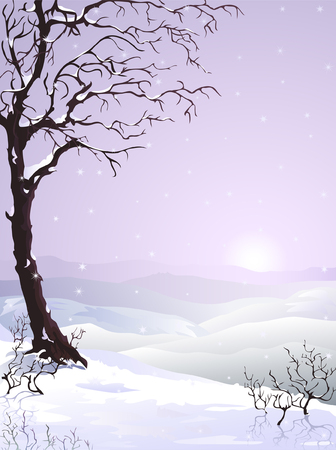 Snow-covered tree (other landscapes are in my gallery) Vector